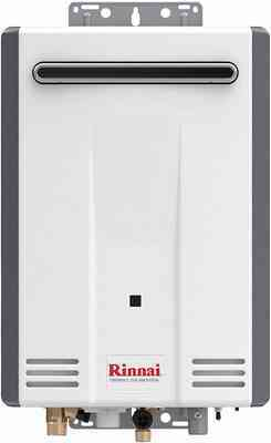 #5. Rinnai V Series HE Outdoor Installation Up to 5.3 GPM Control-R 2.0Electric Tankless Water Heater