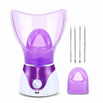 #4. Zenpy Home Sauna SPA Face Humidifier Facial Steamer Nano Ionic Hot Mist Face Atomizer for Men & Women