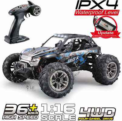 #10. Fistone 1:16 High Speed 24 MPH 4WD 2.4 GHz Remote Control RC Monster Truck for Kids Adults