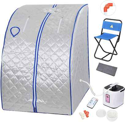 #6. AW Easy Assembly Comfortable Silver Chair Portable Personal Therapeutic Sauna Kit