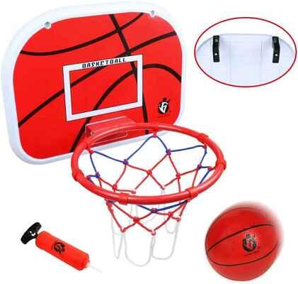 #10. Jerryvon Indoor/Outdoor Backboard Over-The-Door Portable Mini Stand Kids Basketball Hoop