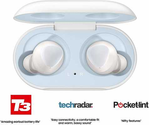 #5. Samsung Galaxy Bluetooth True Buds & Wireless Charging Pad Bundle Internation Version (White)