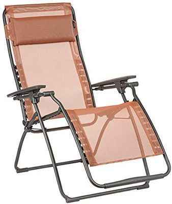 #5. Lafuma LFM3118899 Terracotta Relaxation-Clipped Recliner Patent Ergonomic Lounge Chair