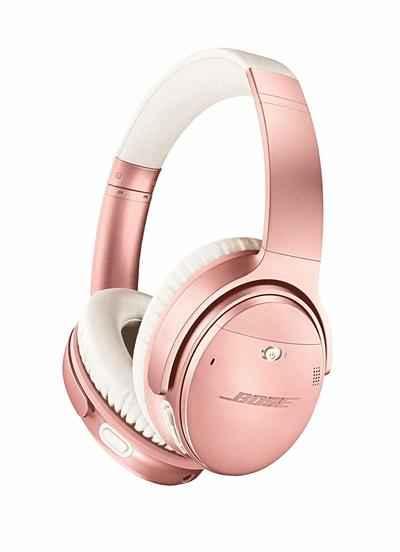 4. Bose QuietComfort Noise-Cancelling 35 II Wireless Bluetooth Headphones (Rose Gold)