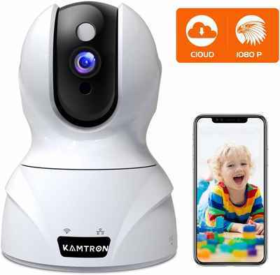 7. KAMTRON Wi-Fi 2.4GHz PTZ Two-Way Audio 1080P Indoor Wireless Security Camera