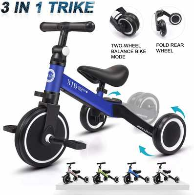 #3. XJD Upgrade 2.0 3-in-1 Comfortable Balance Bike for Boys Girls for 1-3 Years Old Kids