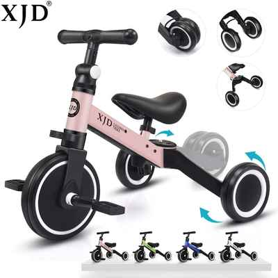 #8. XJD 3-in-1 Upgrade 2.0 3 Wheel Toddler Kids Tricycles for 1 – 3 Years Old Kids