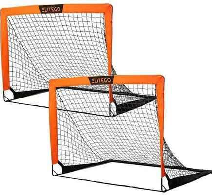 #3. EliteGo Set of 2 Instant Pop-Up Net Fiberglass Poles Convenient Pack & Play Portable Soccer Goal
