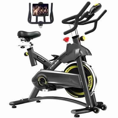 7. Cyclace 330 Lbs. Weight Capacity LCD Monitor IPad Holder Cycling Bike for Home Workout