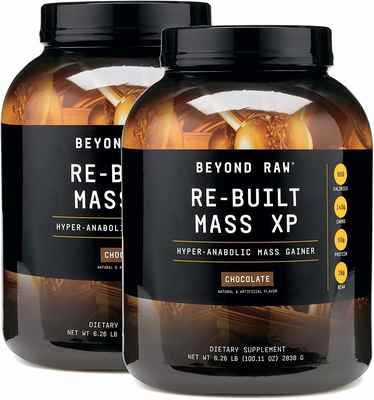 #4. BEYOND RAW Re-Built Mass XP Choc Hyper-Anabolic Complex 5g Creatine Ultimate Mass Gainer