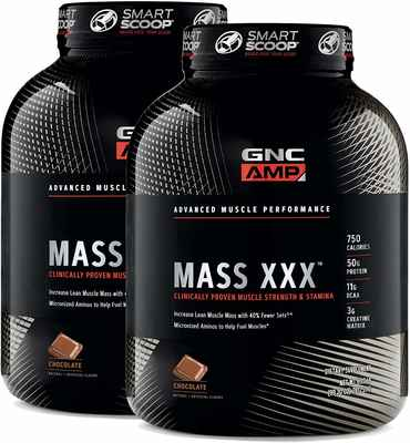 #5. GNC AMP 6.2lbs 50g of Proteins Increase Lean Muscle Mass XX Chocolate Amino Acids Max Gains