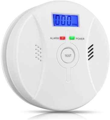 #9. VITOWELL Battery Operated Portable Digital Display Smoke & CO Detector Alarm