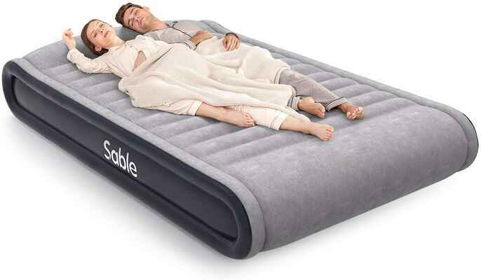 #9. Sable Height 17'' Queen Size Built-in Pump Comfortable Air Mattress for Travelling