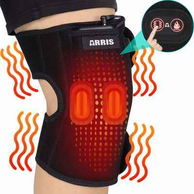 #8. ARRIS 7.4V Battery Heated Knee Brace Wrap W/Massage for Knee Injury & Muscle Pain Relief
