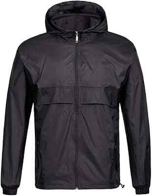 #10. Geek Lighting Lightweight Waterproof Packable Men's Rain Jacket for Cycling & Running