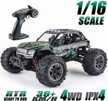 #6. Gxatt 1:16 All-Terrain 36Km/h 4WD 2.4GHz High-Speed RC Truck for Adults & Kids (Green)