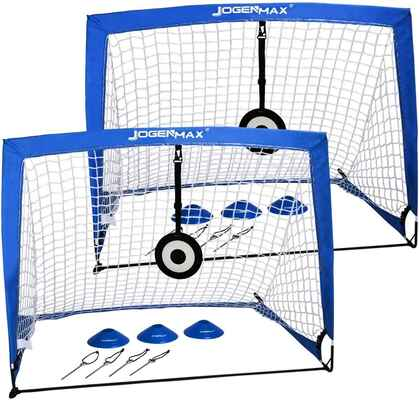 #1. JOGENMAX Portable Pop-Up Goal Nets w/LED Lights & Portable Carrying Case for Kids & Adults