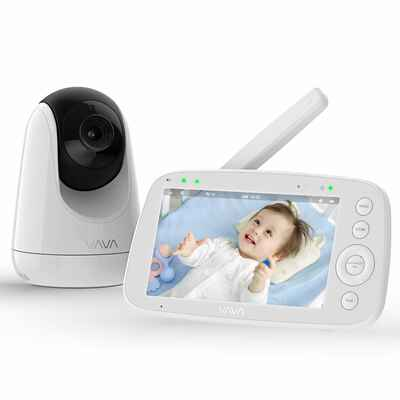 #3. VAVA 5'' 720P Two-Way Audio Night Vision IPS Screen 900ft Range Smart Baby Monitor