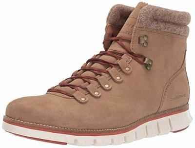 10. Cole Haan Zerogrand Waterproof Heel Rubber Iconic ZG Leather Upper Hiking Boots for Men
