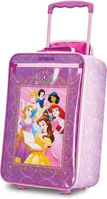 #4. American Tourister Carry-On 18'' Princess 2 Upright Luggage Kid's Disney Soft Side