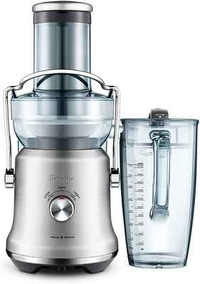 #3. Breville 70 Fl. Oz BJE530BSS1BUSI Cold Press Countertop Juice Fountain Centrifugal Juicer