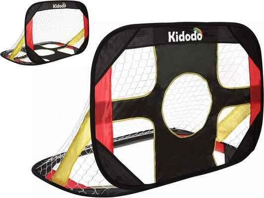 #7. Kidodo Pop-Up Soccer Goal for Backyard Kids Soccer Goal Portable & Foldable Soccer Goal Net