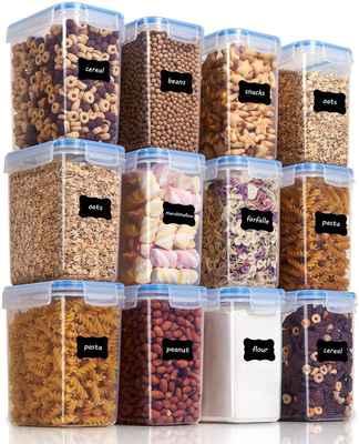 #9. Vtopmart 1.6L 12Pcs Plastic BPA-Free Airtight Food Storage Containers (Blue)
