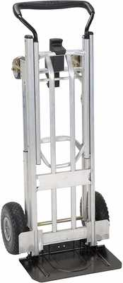 #7. Cosco 12323ASB1E 4-in-1 Larger Storage One-Hand Conversion Looped Handle Hand Truck (Steel)