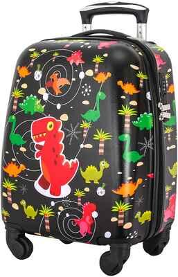 #9. LTTXIN Kid's Black 18'' Hard Shell Carry-On Luggage Boys Travelling Kids Suitcase w/Wheel