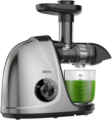 #8. JOCUU Two Speed Modes Easy to Clean Slow Masticating Juicer Extractor for Fruits & Vegetables