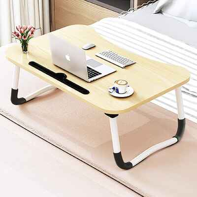 #6. JIIKOOAI Portable Table Dorm Desk Foldable Small Bed Tray Lap Desk for Watching Movie