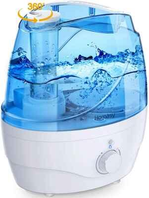 #7. Homech White 20 – 60Hrs Auto-Shut-Off Waterless Quiet Ultrasonic Cool Mist Humidifier
