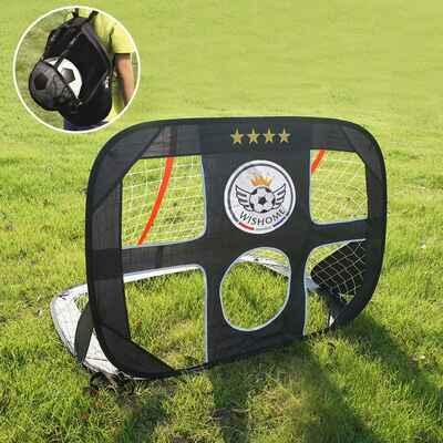 #5. WISHOME L09 4 Ft 2-in-1 Pop-Up Portable Kids Soccer Net for Indoor/Outdoor Shooting