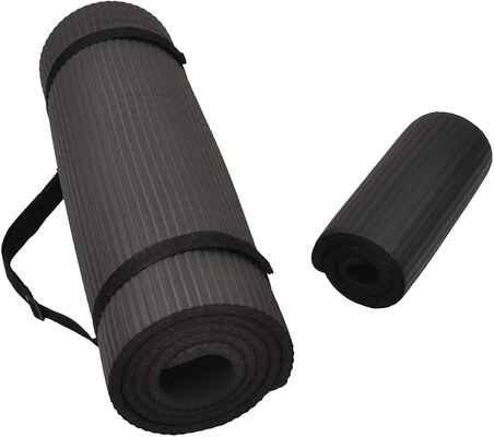 #2. BlanceFrom ½'' Anti-Tear All-Purpose Extra-Thick High-Density Knee Pad & Yoga Mat w/Strap