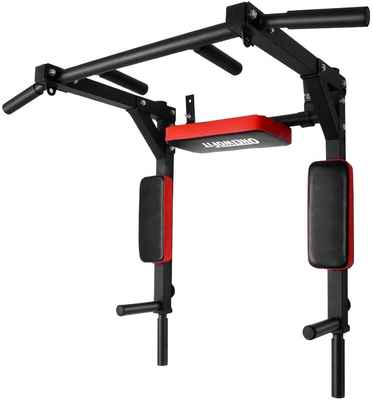 #4. ONETWOFIT OT126 Multi-Functional Wall-Mounted Chin Up Bar/Pull Up Bar