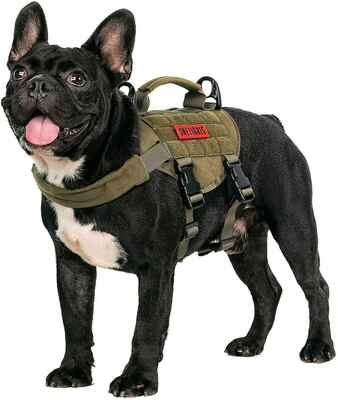 #6. OneTigris Adjustable Training Harness No Pull Tactical Dog Harness Vest w/Handle for Walking