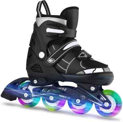 #8. ANCHEER Size 12-8 Adjustable Inline Women Men Kids Urban Roller Skates