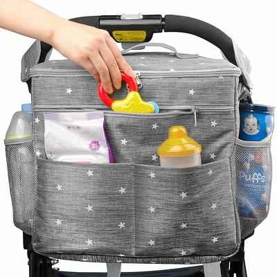 9. AiBeiS Extra-Storage Space with Shoulder Strap Organizer Travel Stroller Bag for Baby's Items