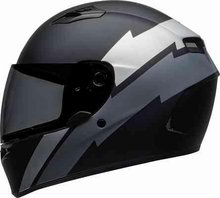 #1. Bell Qualifier Full-Face Three Shell & EPS Motorcycle Helmet (Raid Matte Black/Gray-Medium)