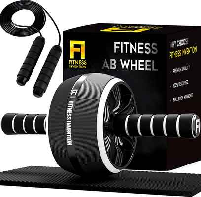 #4. Fitness 3-in-1 Invention Home Workout Equipment Ab Roller Wheel for Abdominal Exercise