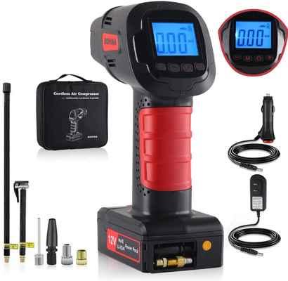 #4. Fansmart Cordless Portable Tire Inflator w/Digital LED Lights & 2000Mah for Suitable for Car