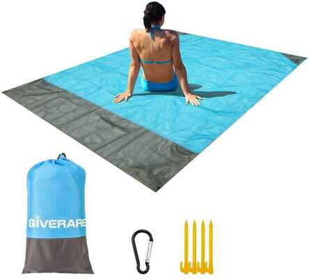 #10. GIVERARE Waterproof Quick Drying Indoor/Outdoor 4 Corner Pockets Sand-Free Beach Blanket