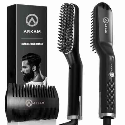 #2. Arkam Dual Voltage 110-240V Premium Cutting Edge Ionic Beard Straightening Comb for Home