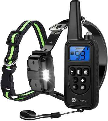 #7. SLOPEHILL 2600 Ft 5 – 140 lbs. Waterproof Small Size Electric Dog Training Collar