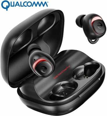 #6. OFUSHO Bluetooth 5.0 Deep Bass 152H IPX7 Waterproof TWS Stereo in-Ear Wireless Earbuds