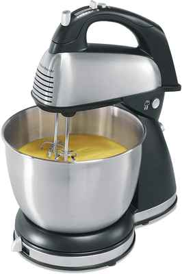 #8. Hamilton Beach New 64651 290W Stainless Steel 6-Speeds Classic Hand & Stand Mixer (Black)