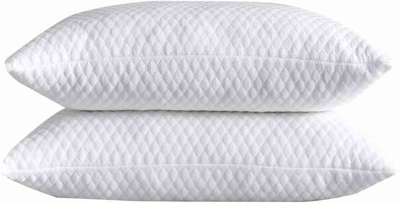 #9. NTCOCO 2 Pack Shredded Washable Cooling Hypoallergenic Memory Foam Bed Pillow (White)