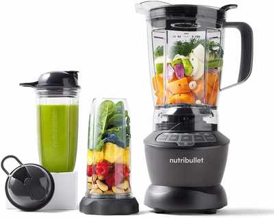 #1. NutriBullet ZNBF30500Z 1200W Three Precision Speed Juice Blender Combo (Dark Gray)