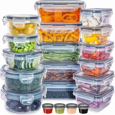 #2. Fullstar 40-Pcs BPA-Free Leak-Proof FDA-Approved Plastic Food Storage Containers Set w/Lids