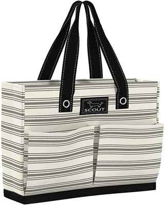 #8. SCOUT Slim Profile Roomy Interior Uptown Girl Lightweight Utility Tote Bag w/4 Pockets